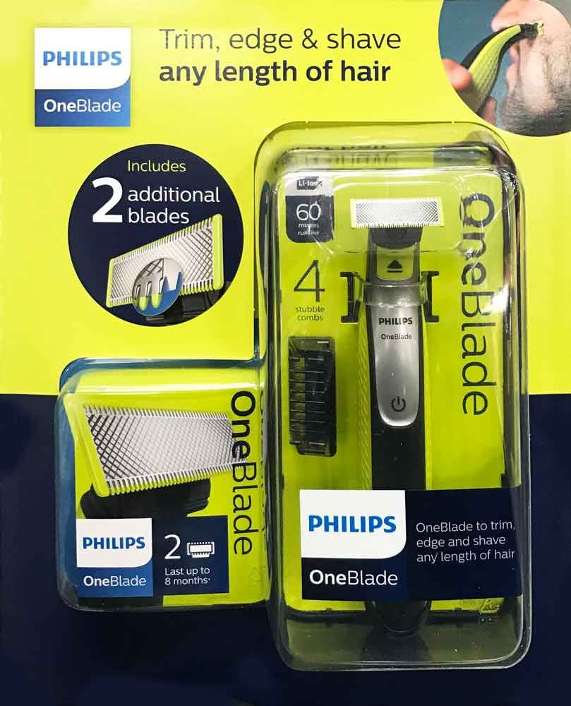 philips oneblade qp2530 25 rechargeable shaver with 4 stubble combs 2 blades. Black Bedroom Furniture Sets. Home Design Ideas