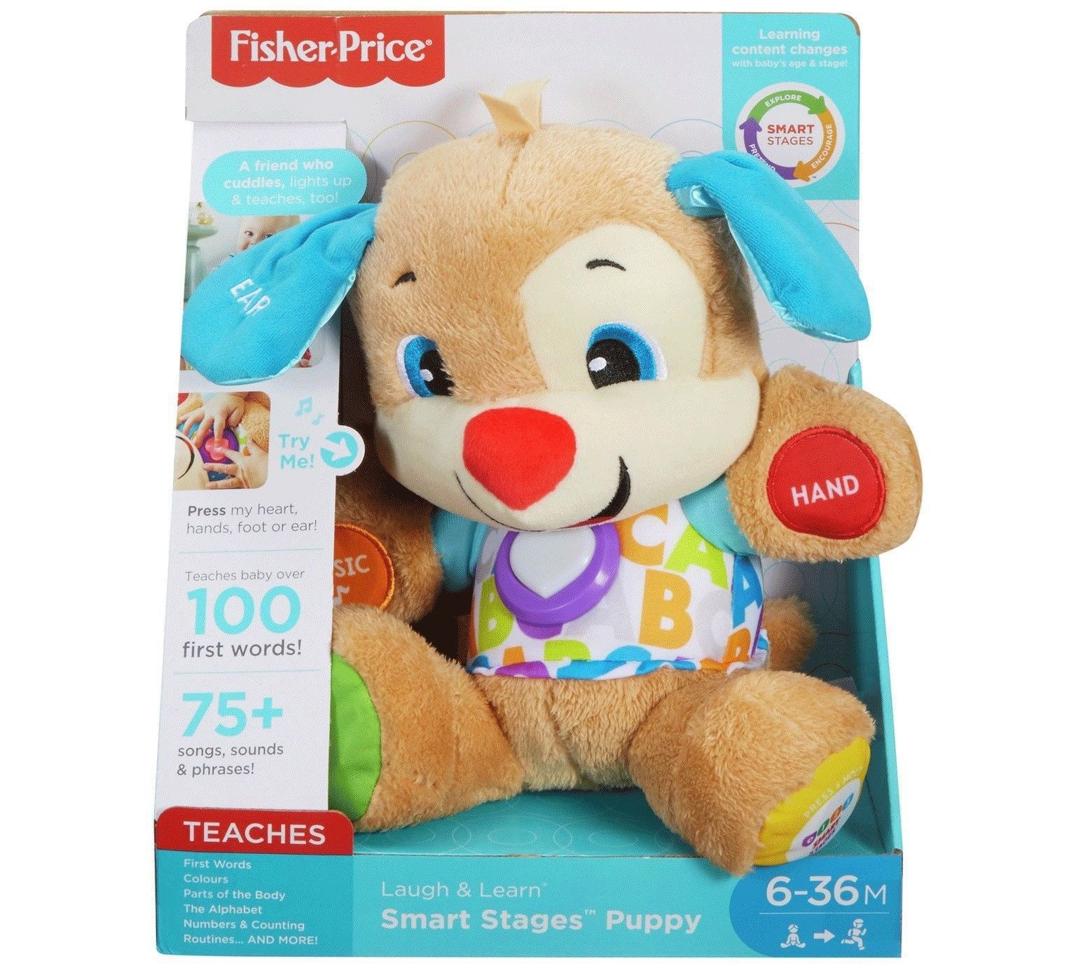 Fisher Price Laugh Learn Smart Stages Puppy 75 Songs Sounds Phrases Phone