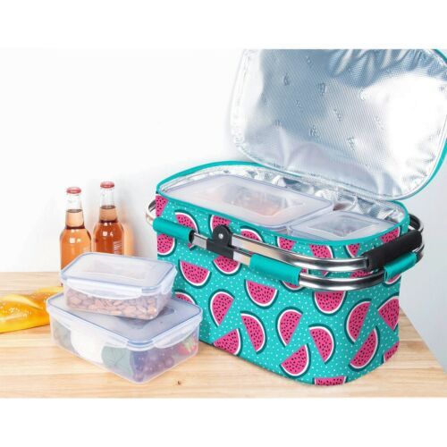 Igloo Picnic Cool Basket with 4 Piece Food Storage Set Outdoor Party