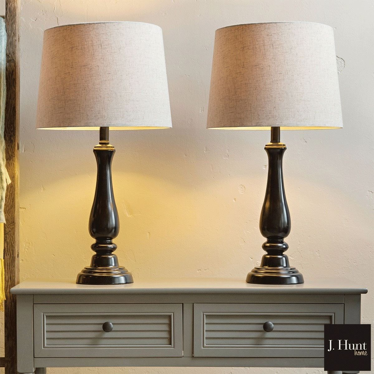 J Hunt Home Metal Touch Table Lamps Pack