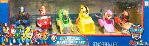 Paw Patrol Sea Patrol 6 Piece Racer Gift Set Kids Toys Genuine