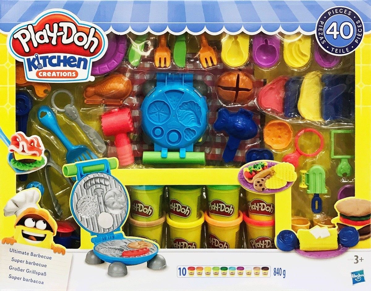 Play Doh Kitchen Creations Ultimate Bbq 40 Piece Set
